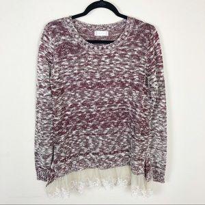 Altar'd State | knit lace hem sweater